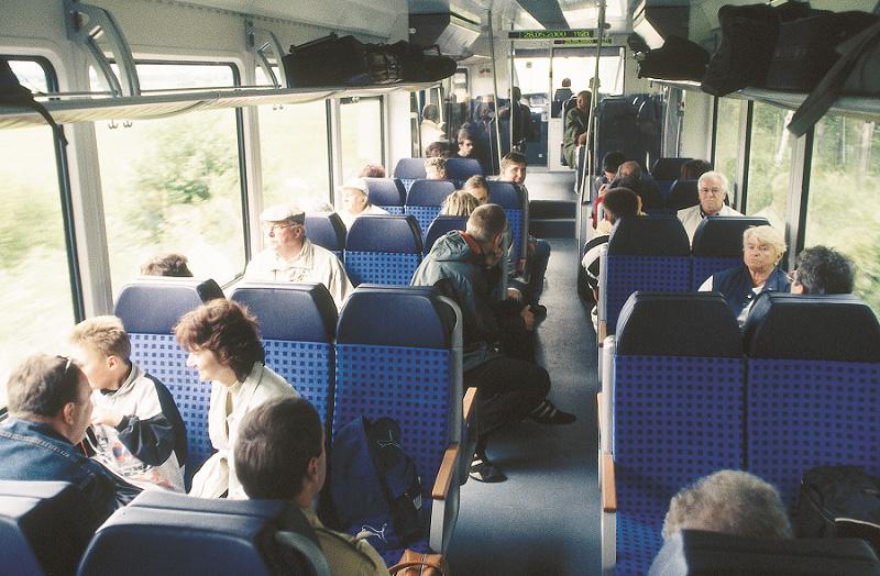 Fahrgäste in der UBB