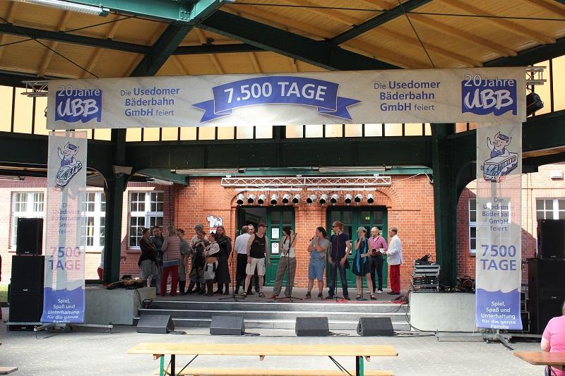 Programm am Bahnhof Heringsdorf 20 Jahre UBB