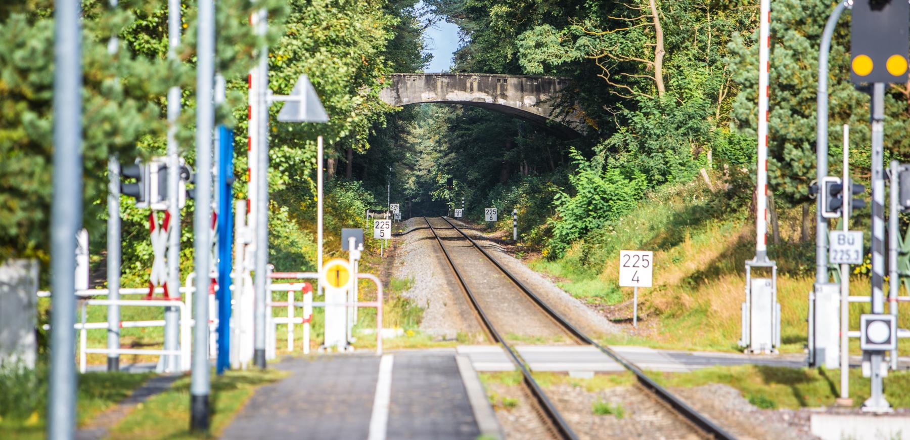 Blick auf die Gleise Kölpinsee
