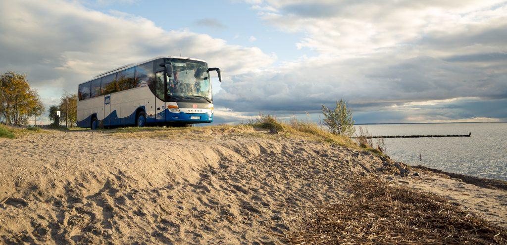 UBB Bus steht am Achterwasser