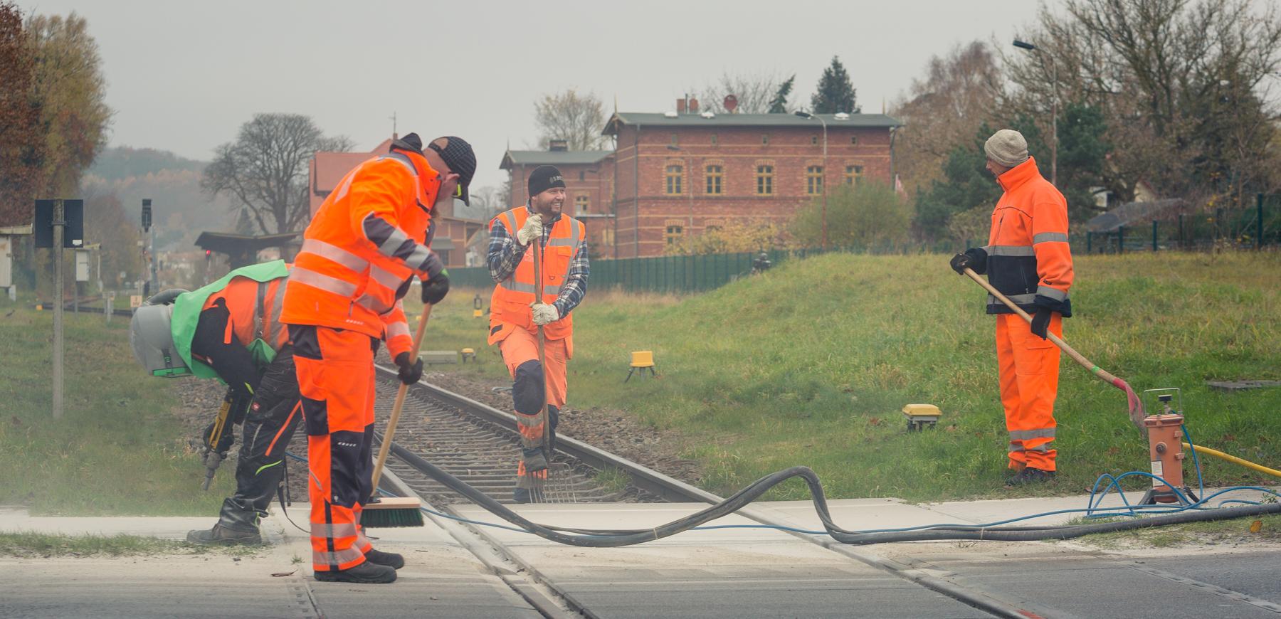 UBB Mitarbeiter vom Gleisbau