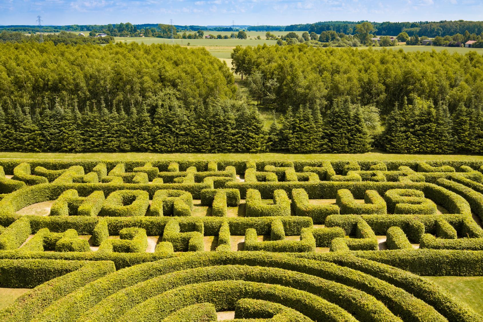 Labyrinth in den Horulus Gärten