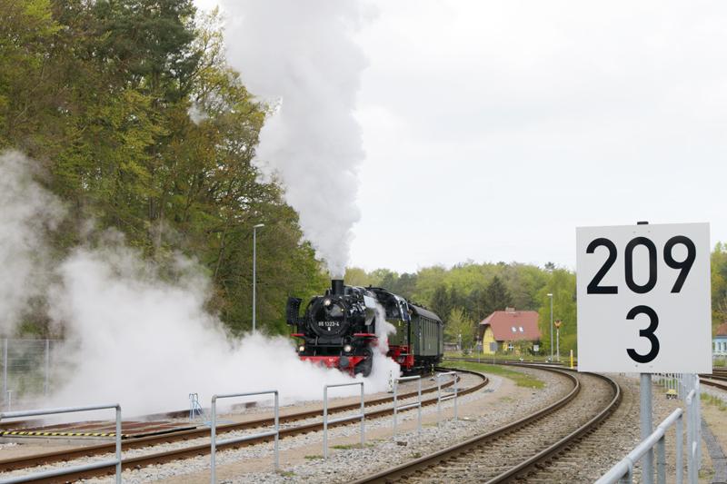 Die Dampflok 2017 auf der Insel Usedom