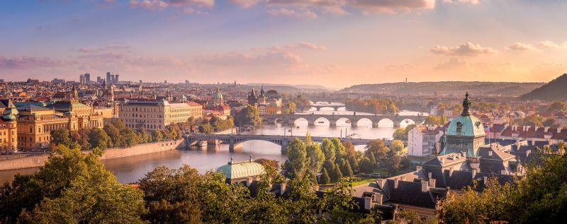 Panoramablick auf die Stadt Prag
