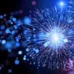 Silvester Feuerwerk am Himmel