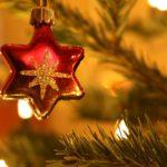 Weihnachtsschmuck Stern rot