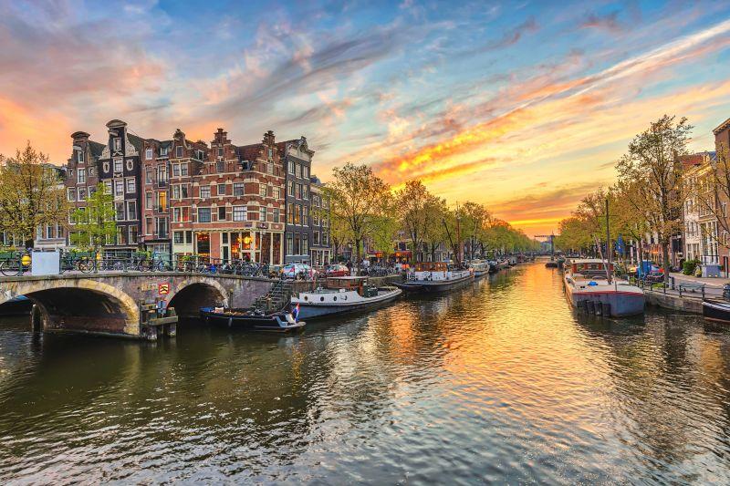 Sonnenuntergang Amsterdam