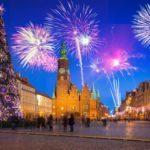 Feuerwerk und Neujahrsfest in Polen.