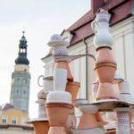 Stadt aus Keramik