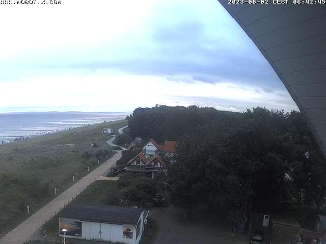 Webcam Blick auf den Strand von Kölpinsee
