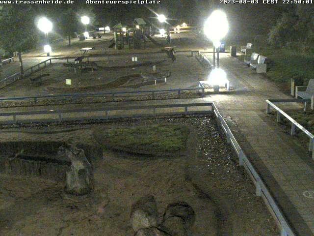 Webcam Blick auf den Abenteuerspielplatz von Trassenheide
