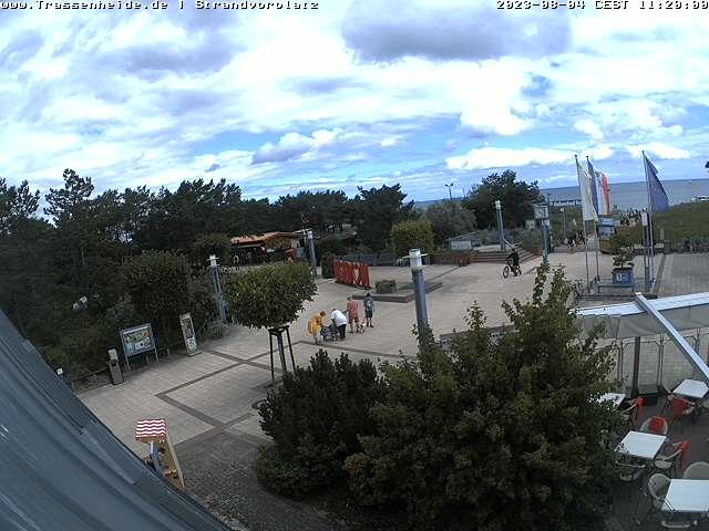 Webcam Blick auf den Strandvorplatz von Trassenheide